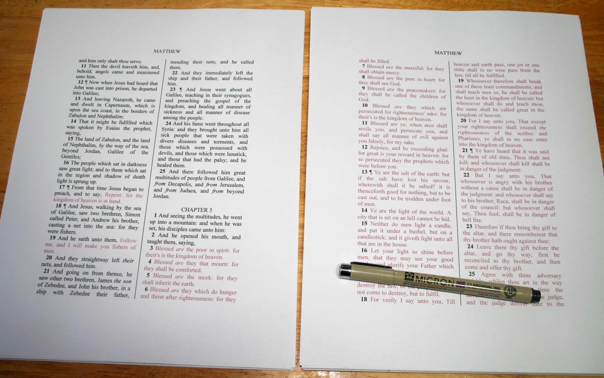 Making Your Own Loose Leaf Bible – Loose Leaf Template