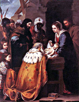 Adoration of the Magi by Bartolomé Esteban Murillo. From Wikipedia